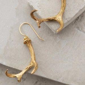 Anthropologie~Antler Drop Earrings